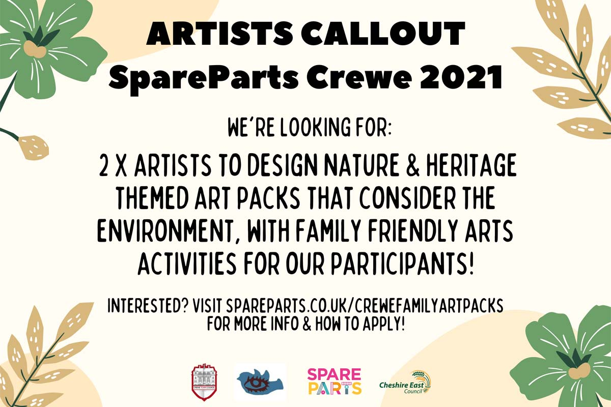 Read more about the article Artist Callout – Family Art Packs Crewe SpareParts Festival 21